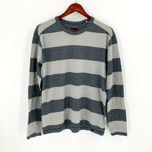 prAna Grey Striped Long Sleeve Shirt
